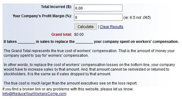 Sales to Pay for Accidents Calculator
